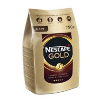 Кофе растворимый Nescafe Gold, пакет 750 г